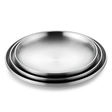 ONLYCOOK 304 Stainless Steel Plate Dinner Plates Double Insulated Plate