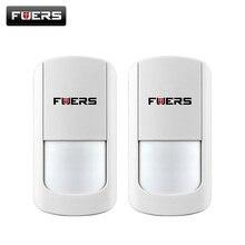 2 pcs/lot 433MHZ sans fil PIR capteur sans fil capteur de mouvement pour sans fil Wifi systèmes dalarme de sécurité à domicile G90B batterie comprennent