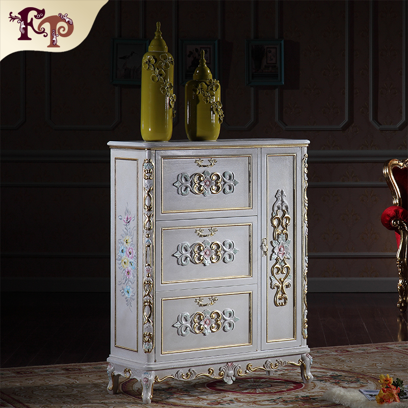 Luxury Furniture Gold Antique Hand Carving Leaf Gilding Shoe Cabinet In Shoe  Cabinets From Furniture On Aliexpress.com | Alibaba Group