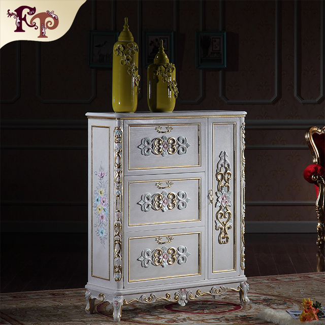 luxury furniture gold - antique hand carving leaf gilding shoe cabinet - Luxury Furniture Gold Antique Hand Carving Leaf Gilding Shoe Cabinet