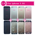 AAA высокое качество 10 Шт. для iphone 5 5g Розовое Золото/Черный/Серебро/Золото С Металл Задняя Крышка Батареи Замена корпуса