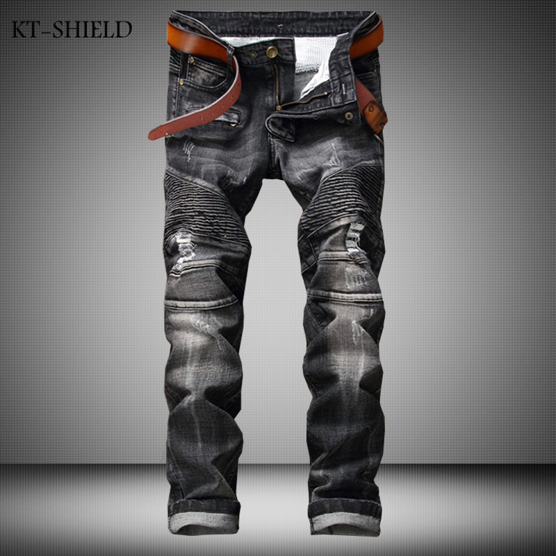 Hot Sell Mens Ripped Jeans 100 Cotton Brand Designer Denim Joggers For Men Distressed Jeans Pants