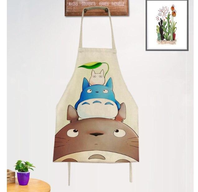 Apron  Cartoon apron Korean kitchen apron adult restaurant apron BBQ CAT Kangaroo Fox styling title=