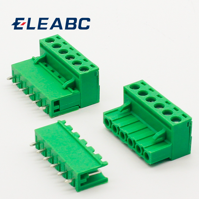 5 sets ht5.08 6pin Terminal plug type 300V 10A 5.08mm pitch connector pcb screw terminal block
