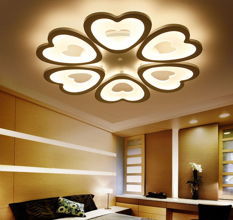 Heart shaped ring Acrylic Ceiling Light Emos Match Maker ceiling ...