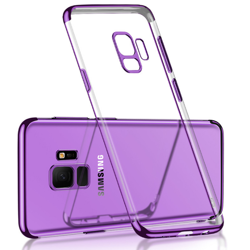 Transparent TPU Case For Samsung Galaxy S9 S9 Plus S8 Full Cover Plating Silicone Case For Samsung Note 8 A6 2018 Phone Cases