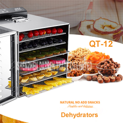 QT-12 Temperature time control Stainless Steel fruit dehydrator machine dryer fruits and vegetables food processor drying fish