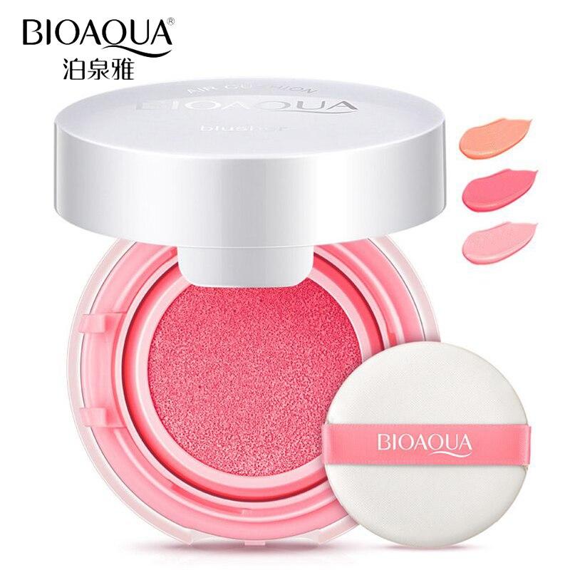 BIOAQUA Brand Air Cushion Blush Bronzer Makeup Mineralize Blusher Cheek Sleek Cosmetics Soft Powder Naked Make Up Nude Maquiagem
