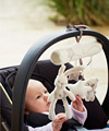 Stuffed Rabbit Car Hanging Bed Hanging Bed Around with Music Toys Baby Playpens Toy Plush Multipurpose