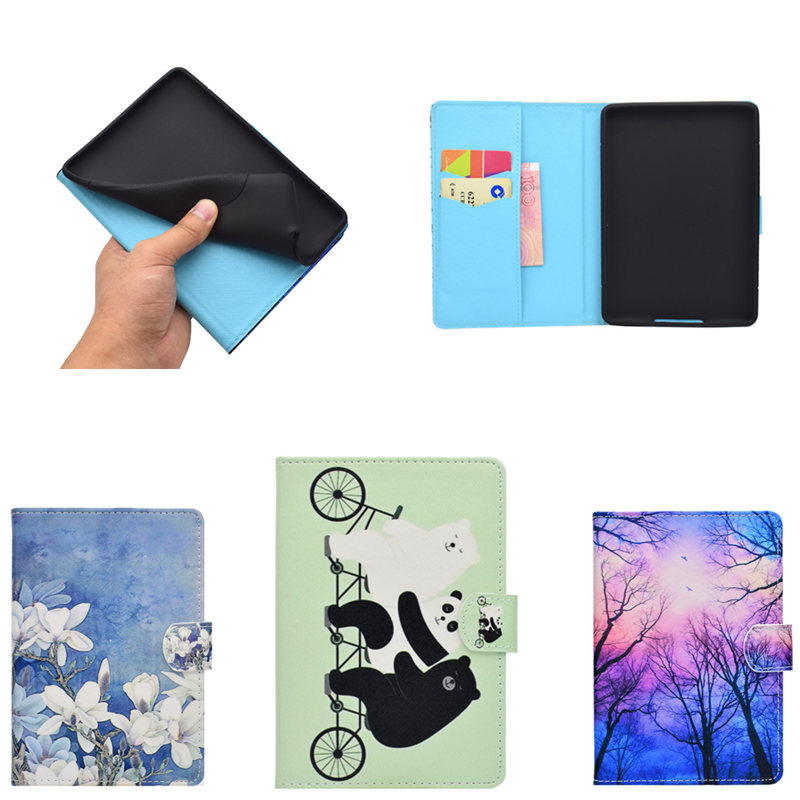 Painted Shockproof Cute Cover for Amazon Kindle PaperWhite 1 2 3 6th generation PU Leather Case Stand Folio Fundas sd magnetic stand pu leather sleeve pouch bag case cover for amazon kindle paperwhite 1 2 3 6 inch kindle voyage can stand case