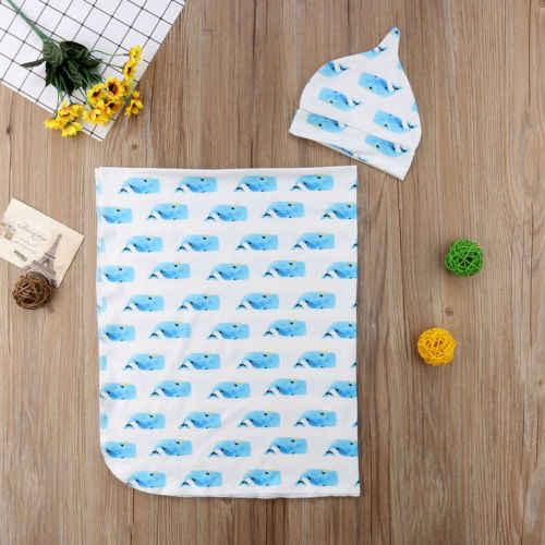 Новый Мягкий хлопок голубая акула получения Одеяло для маленьких новорожденных Одеяло пеленать комфорт спальный мешок детские мягкие Обёрточная бумага