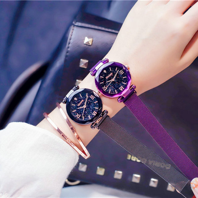 Top Luxury Ladies Watch Fashion Female Stainless Steel Mesh Quartz Wrist Watch S