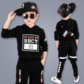 kids hip hop clothing Boys Long Shirt + Pants Sweatshirt Casual Clothes Children's Wear Autumn New Boys Clothing Set Kids Suit