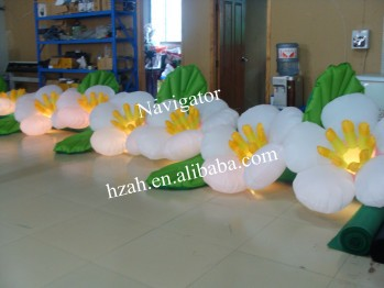 Lighted Inflatable Gate Flowers Chain for Wedding Decoration lighted inflatable tree for advertising decoration
