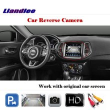 Liandlee Auto Rearview Reverse Parking Camera For Jeep Compass 2011~2016 / Rear View Backup Work with Car Factory Screen