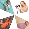 (16 Colors)Baby Costume Photography Cotton Photo Wrap Matching With Free Headband Atrezzo Fotografia Bebes Infant Costume Outfit