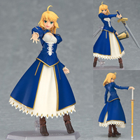 Figma EX 025 Saber Dress Version Fate/Stay Night Girl PVC Action Figure Resin Collection Model Doll Toy Gifts Doll Cosplay