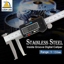 Best price Inside Groove Vernier Caliper 9-150mm/0.02 Stainless Steel Inner Vernier Calipers Double Claw Professional Measuring Tools