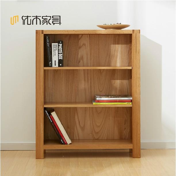 Solid Wood Small Bookshelf / Import White Oak Shelf