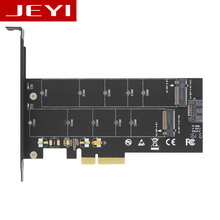 JEYI SK6 M.2 NVMe SSD NGFF TO PCIE X4 adapter M Key B Key dual interface card Suppor PCI Express 3.0 x4 2230-22110 All Size m.2