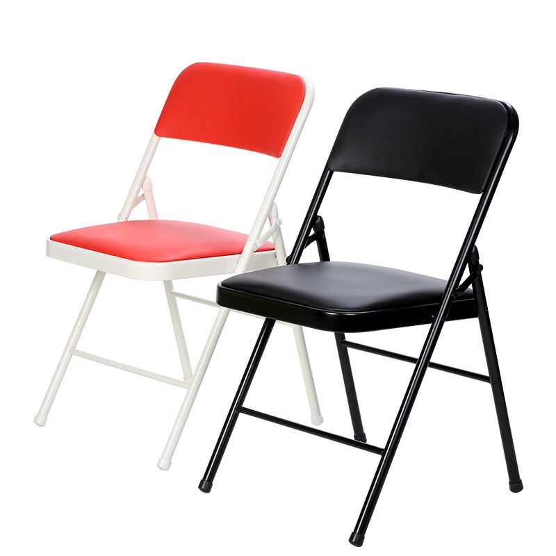 6pcs/lot High Quality Foldable Office Chair Metal PU Portable Dinning Chair Conference Concert Outdoor Activity cadeira Stuhl