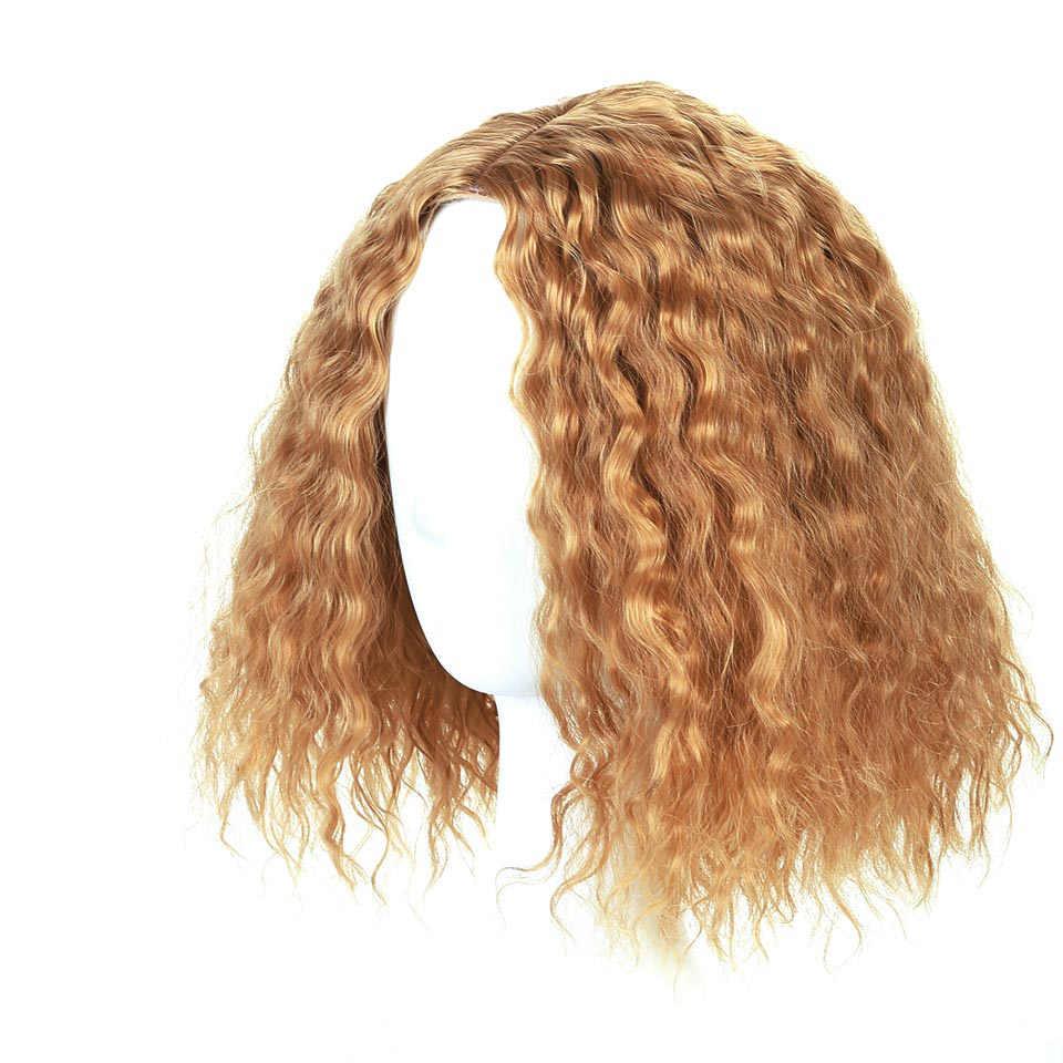 MUMUPI черный золотой Омбре цвет высокого качества парик с короткими вьющимися волосами модная женская Распродажа с челкой натуральные короткие пучки волос влажная волна парики