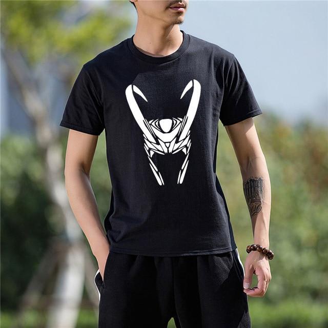 d54be6ec Fashion Cotton Tops Short Sleeve T Shirt Men Clothes Loki Helmet Printed  Funny TShirt Men Tee