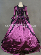 18th Century Theme Dress Two Piece Purple Marie Antoinette Period Dress Performance Clothing
