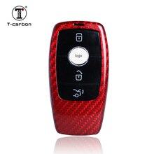 Т-карбоновый чехол для ключей из стекловолокна, подходит для Benz E Class