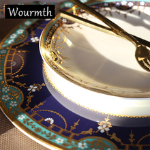 Wourmth Vintage Painting Bone China Dinnerware Sets Dishes and Plates Advanced Cutlery Tableware Set(China & Buy antique china dishes and get free shipping on AliExpress.com