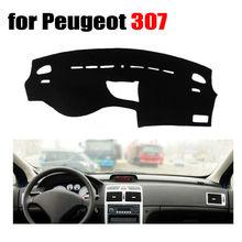 Приборной панели автомобиля охватывает коврик для Peugeot 307 все годы левым dashmat Pad Даш крышка авто аксессуары приборной панели