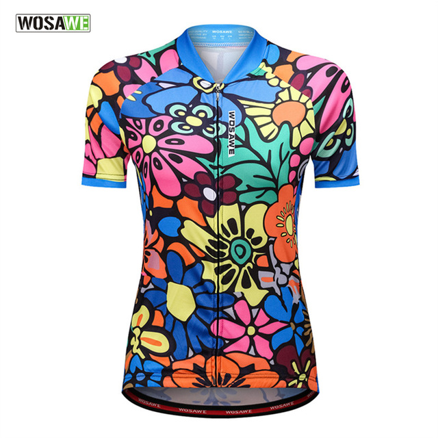 WOSAWE Mtd T Shirt Women Bike Cycling Jersey Short Sleeve Reflective Breathable Quick dry Road Bicycle Running Clothing Tops Gym|Cycling Jerseys| |  - title=