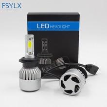 FSYLX S2 H4 LED H7 H11 H8 HB4 H1 H3 HB3 Auto Car Headlight Bulbs 72W 8000LM 6500K led h4 h7 fog head light bulb