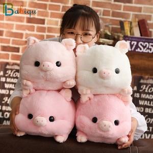 Image 2 - 1 adet 50cm yumuşak Kawaii aşk domuz peluş yastık dolması sevimli hayvan yastık el ısıtıcı çin zodyak domuz oyuncak bebek doğum günü hediyesi çocuk