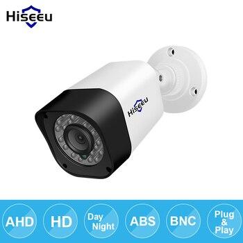 Hiseeu AHD 720 P 1080 P bala Câmera de CCTV impermeável ao ar livre indoor IR CUT Night Vision HD Câmera De Segurança de vídeo câmera de vigilância