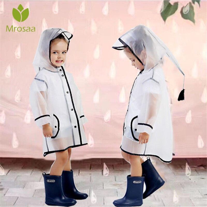 Mrosaa Wasserdicht EVA Regen Mantel Jungen Kinder Mädchen Winddicht Poncho Regenkleidung Regenanzug Kindergarten Kinder Baby Regenmantel