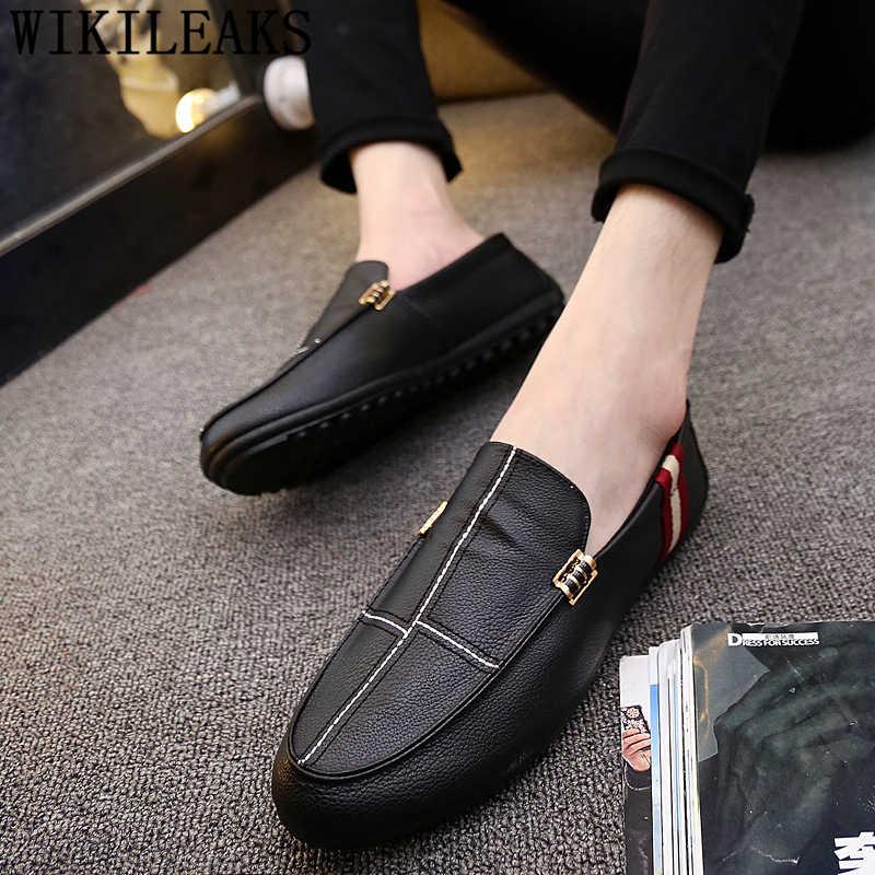 Zapatos de conducción para hombre, mocasines de cuero, zapatos casuales para hombre, zapatos de diseñador de gran calidad, zapatos de marca de lujo para hombre