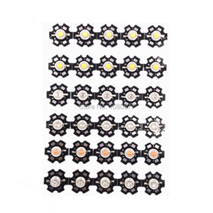 Image 3 - 10pcs 1W 3W High Power LED Beads Full Spectrum White Warm white Green Blue Deep Red 660nm Royal blue With 20mm Black Star PCB