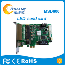 Alto gabarito Nova msd600 rgb conduziu a tela de envio de cartão de controle de display led de cor cheia