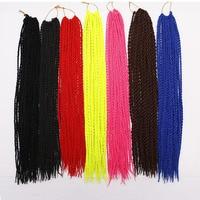 6packs Feibin Havana Crochet Twist Braids Hair 18 Inch Long Crochet Braiding hair For Women Black Synthetic Hair Extensions