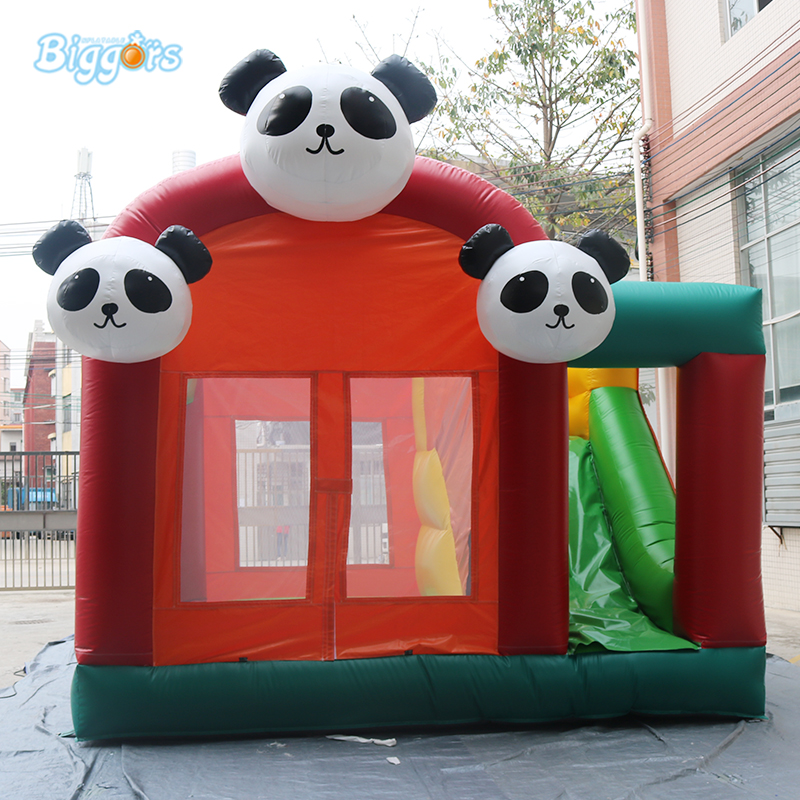 Commercial Panda Inflatable Bouncy Castle Bounce House Juego Inflable With Blowers