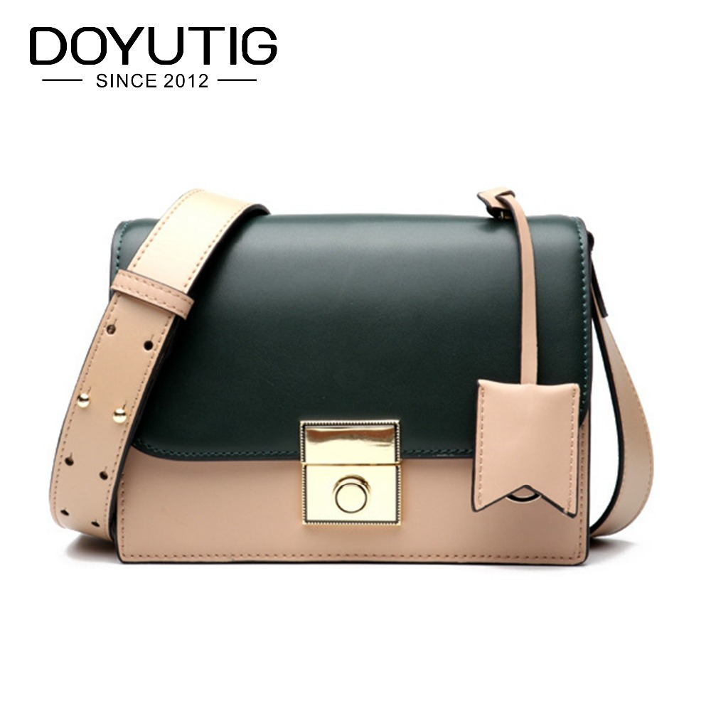 DOYUTIG Brand Europen Design Genuine Leather Square Flap With Panelled Pattern Lady Fashion Real Cow Leather Crossbody Bag F600DOYUTIG Brand Europen Design Genuine Leather Square Flap With Panelled Pattern Lady Fashion Real Cow Leather Crossbody Bag F600