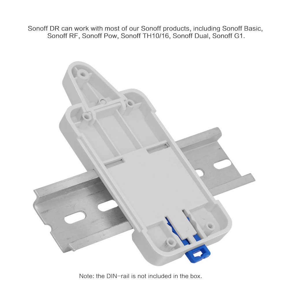 Интеллектуальный выключатель света SONOFF для Basic/RF/Pow/TH10/16/двухъядерный процессор Wi-Fi умный переключатель DR DIN лоток рейка чехол держатель для телефона, установленный шкатулка с изменяемыми отсеками, декоративная наволочка на Alexa
