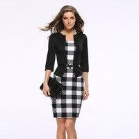 2016 New Hot Fashion Women Dress Suit Elegant Business Suits Blazer Formal Office Suits Work Tunics
