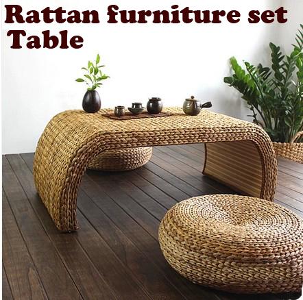 100% produtos de vime natural, Conjuntos de mobiliário de jardim de puro handmade, Mesa rattan, Rattan fezes, Móveis de sala ( 1 + 2 )