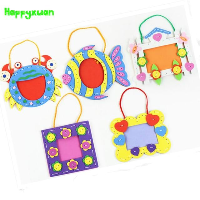 Happyxuan 5pcs Lot Kids DIY Craft Kits 3D EVA Foam Sticker Photo Frame Kindergarten Baby