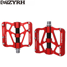 цена на MZYRH X6 Mountian Bike Pedals Aluminum Alloy 3 Sealed Bearing Pedals MTB Bicycle Carbon Fiber Big Tread Pedals for Bicycle parts