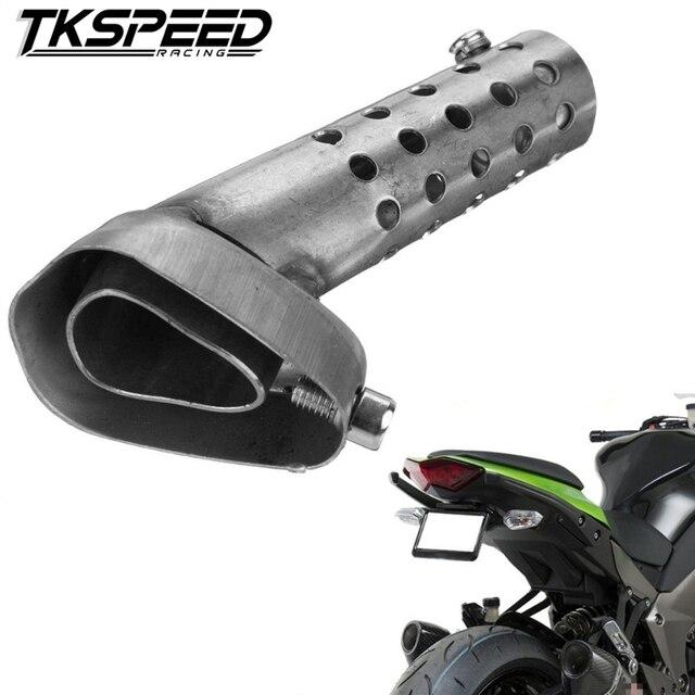 Universal tubo de Escape Da Motocicleta Silenciador Ajustável db Assassino Silencioso De Escape Para Akrapovic KTM Ducati 42mm 45mm 48mm