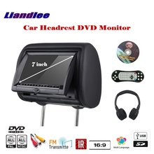 7 inch Car Headrest Head Rest Restraints Pillow TFT LED Monitor Screen / Headrest DVD Game Player Back Seat Multimedia System цена