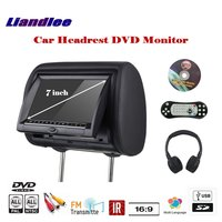 7 inch Car Headrest Head Rest Restraints Pillow TFT LED Monitor Screen / Headrest DVD Game Player Back Seat Multimedia System